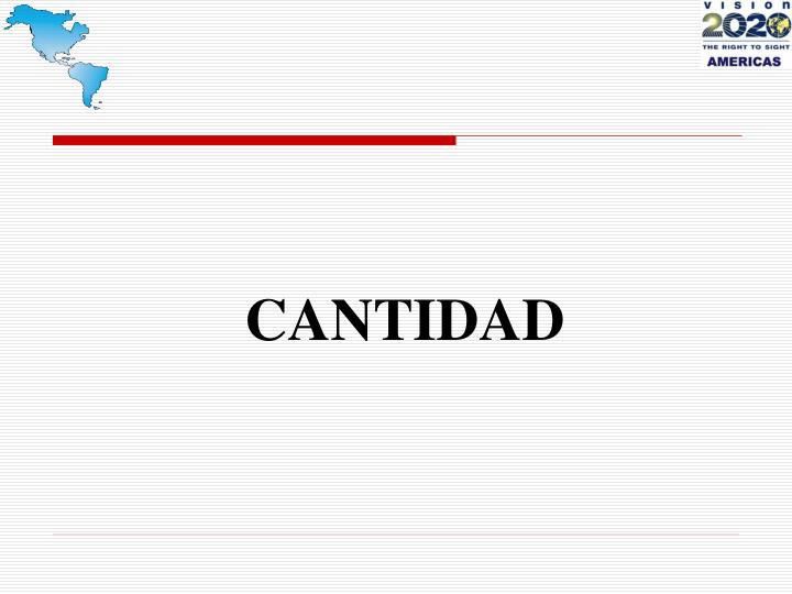 CANTIDAD