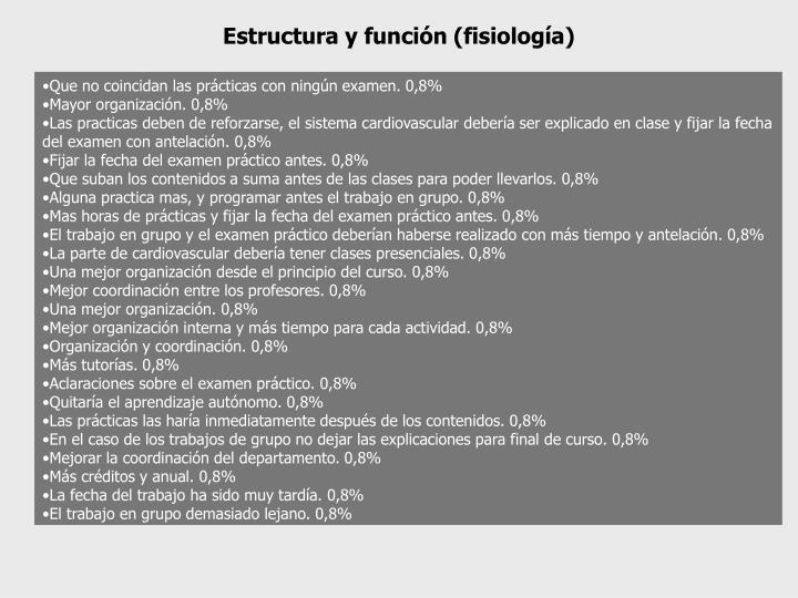 Estructura y función (fisiología)