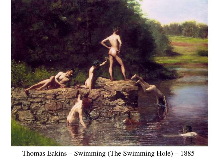 Thomas Eakins – Swimming (The Swimming Hole) – 1885