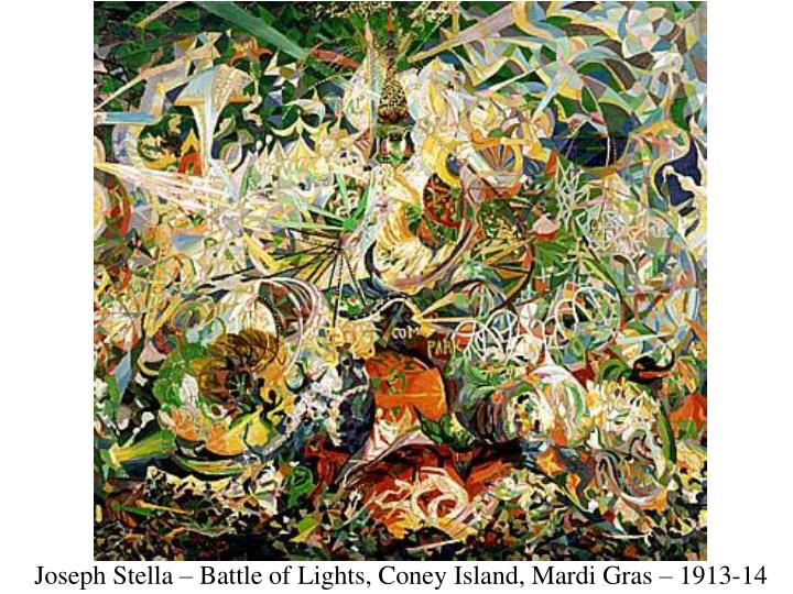 Joseph Stella – Battle of Lights, Coney Island, Mardi Gras – 1913-14