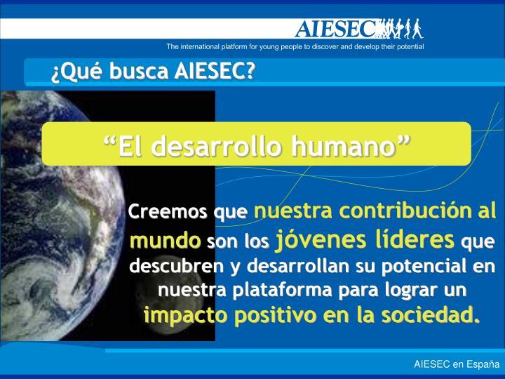 """""""El desarrollo humano"""""""
