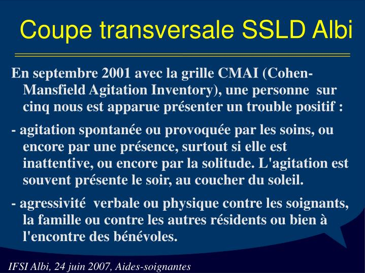 Coupe transversale SSLD Albi