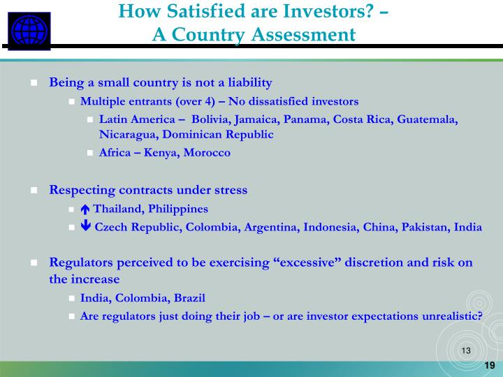 How Satisfied are Investors? –