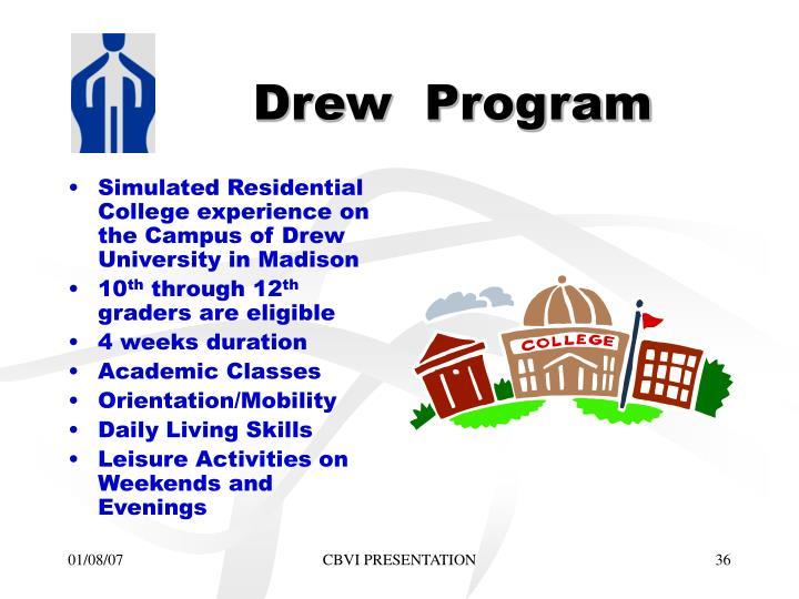 Drew  Program