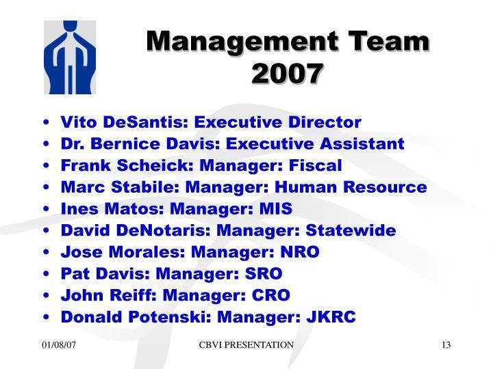 Management Team 2007