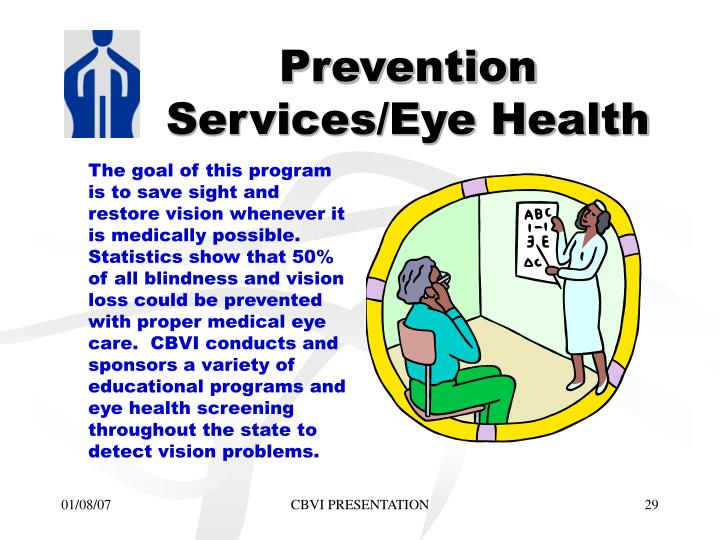 Prevention Services/Eye Health