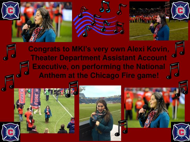Congrats to MKI's very own Alexi Kovin, Theater Department Assistant Account Executive, on perform...