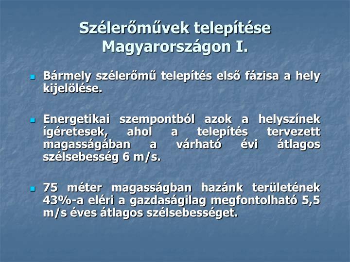 Szélerőművek telepítése Magyarországon