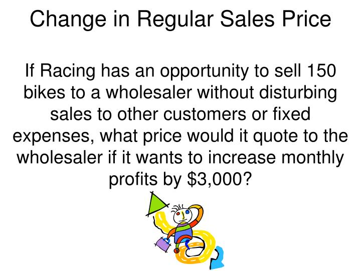 Change in Regular Sales Price