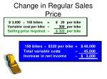 change in regular sales price1