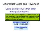 differential costs and revenues