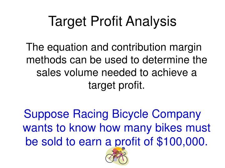 Target Profit Analysis