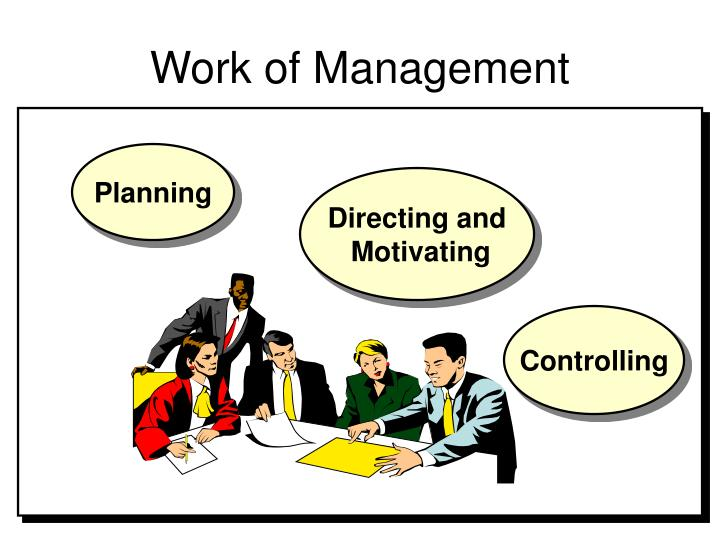 Work of management