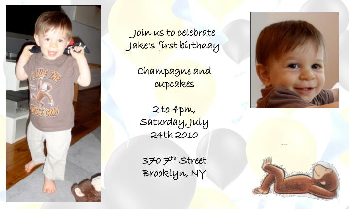 Join us to celebrate Jake's first birthday