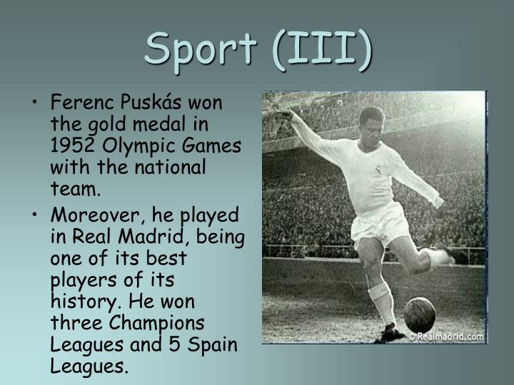 Sport (III)
