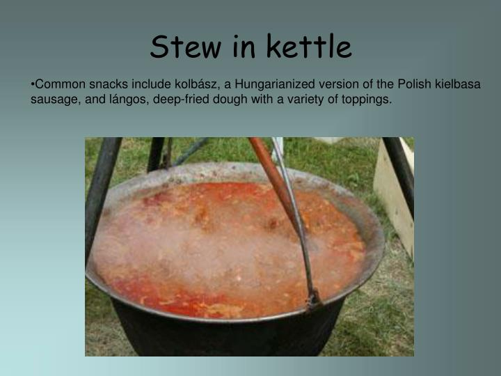 Stew in kettle