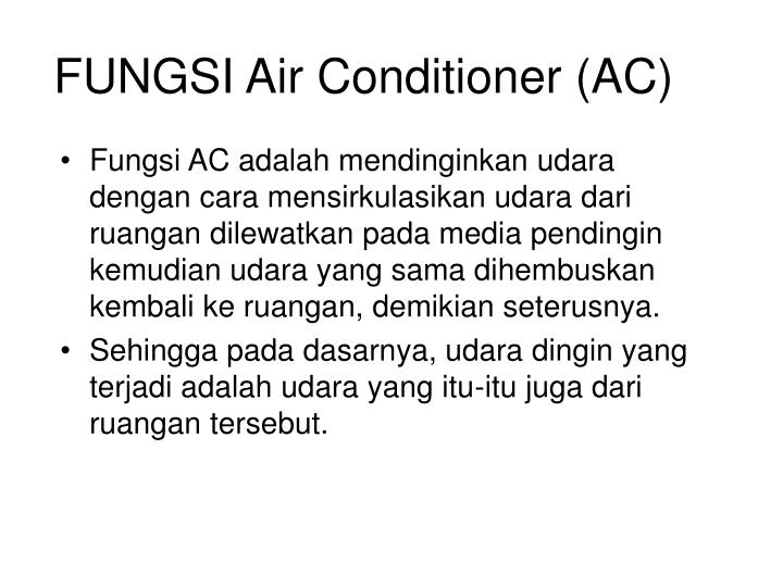 Fungsi air conditioner ac