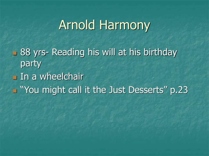 Arnold Harmony