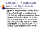 jxb 2007 a sustainable model for open access2
