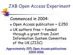 jxb open access experiment