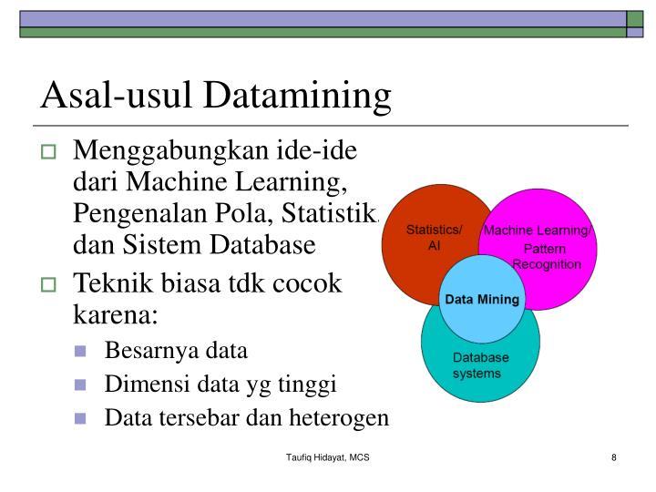 Asal-usul Datamining