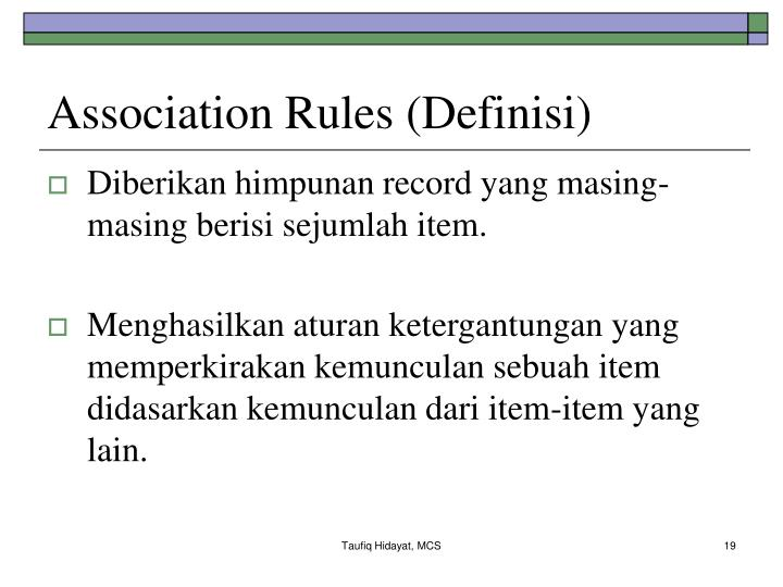 Association Rules (Definisi)