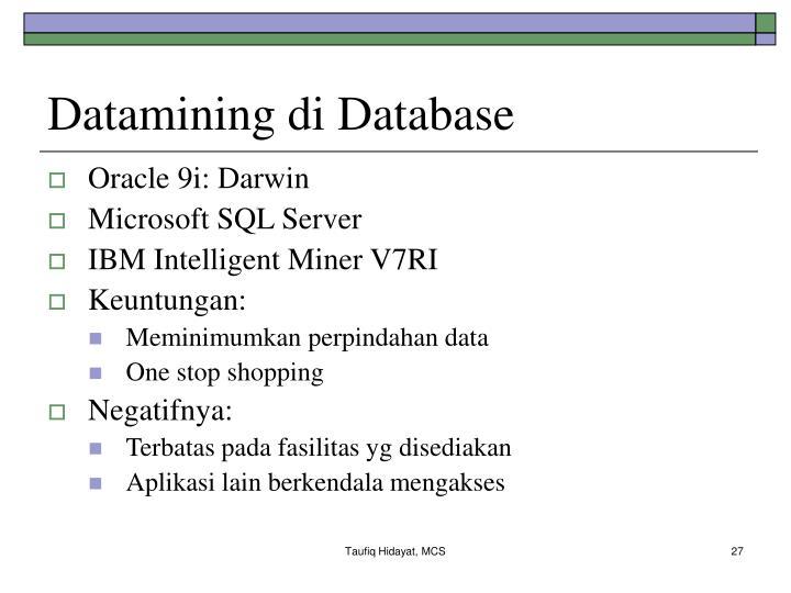 Datamining di Database