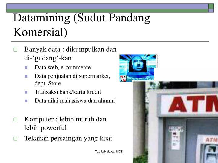 Datamining (Sudut Pandang Komersial)