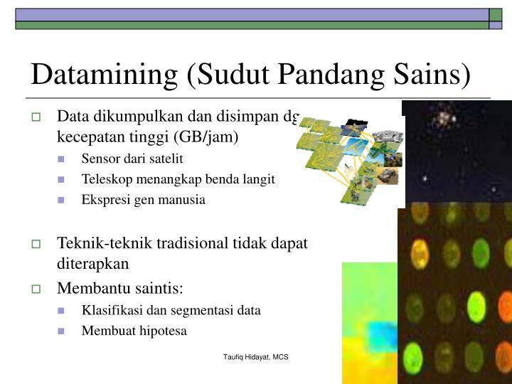 Datamining (Sudut Pandang Sains)