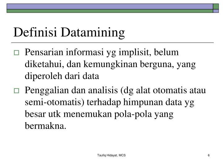 Definisi Datamining