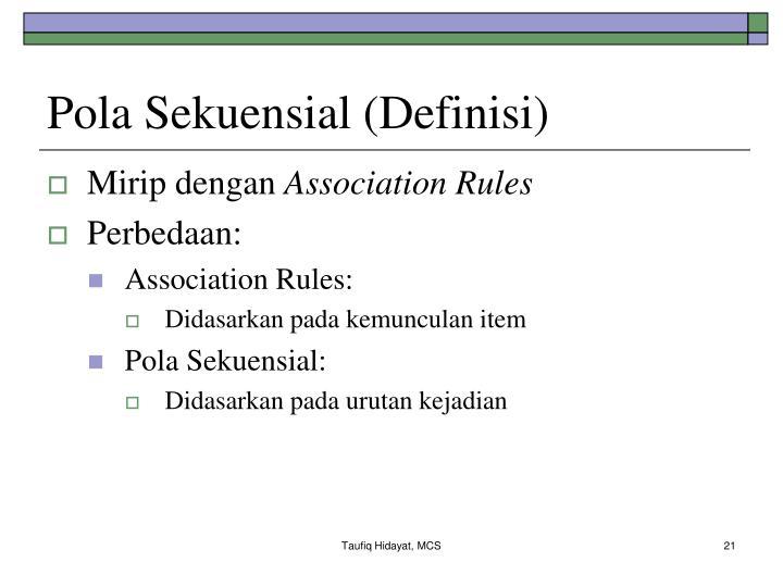 Pola Sekuensial (Definisi)