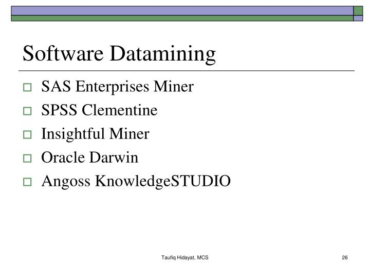 Software Datamining