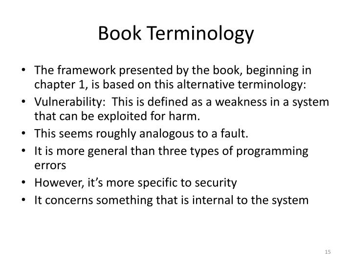 Book Terminology