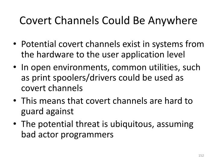 Covert Channels Could Be Anywhere