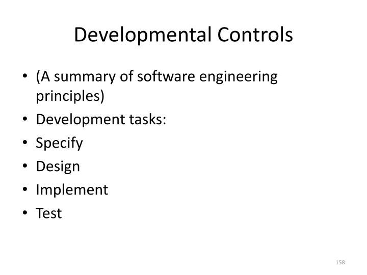 Developmental Controls