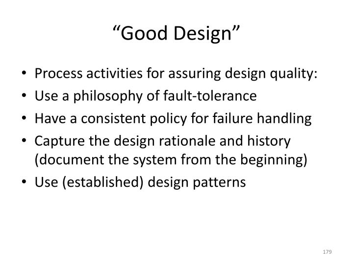 """Good Design"""