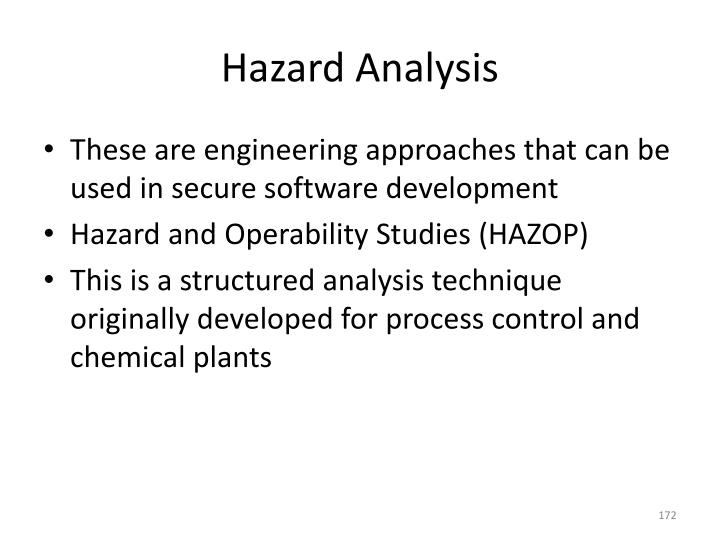 Hazard Analysis