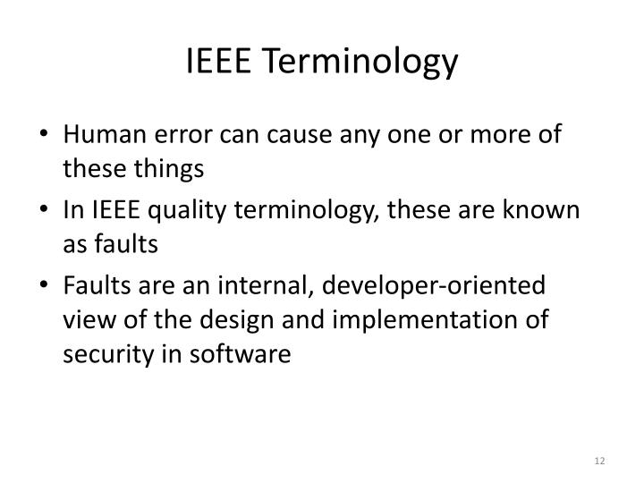 IEEE Terminology