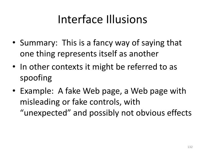 Interface Illusions