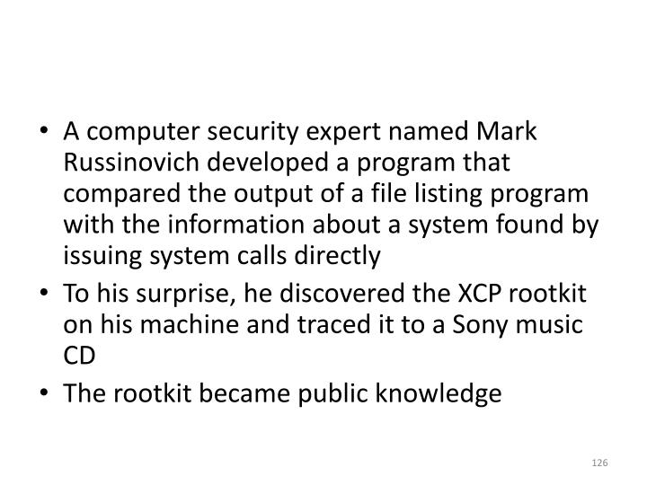 A computer security expert named Mark