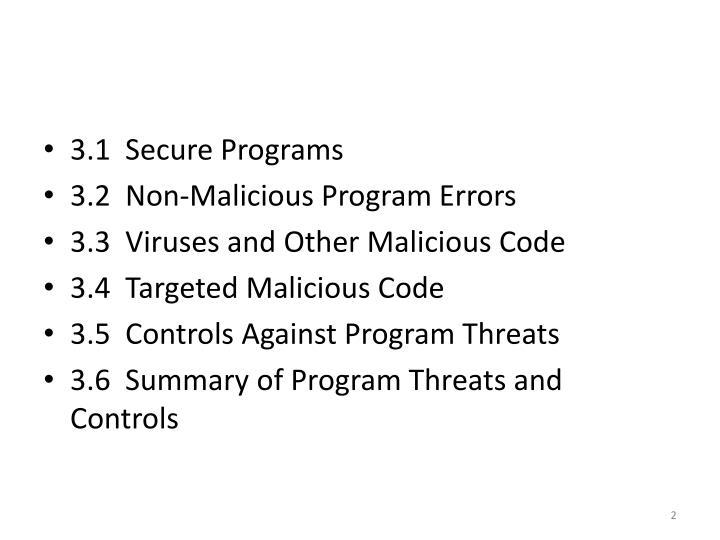 3.1  Secure Programs