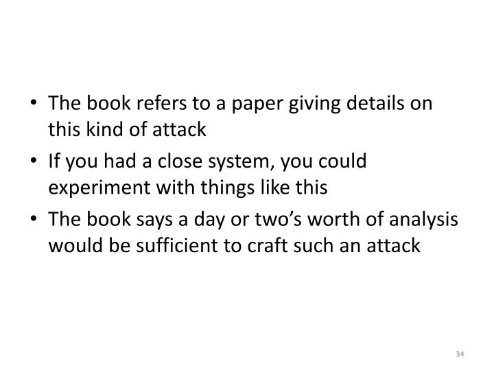 The book refers to a paper giving details on this kind of attack