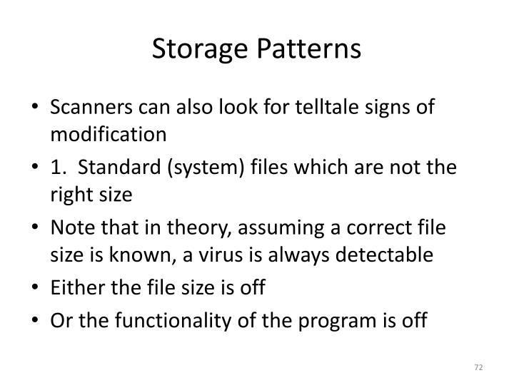 Storage Patterns