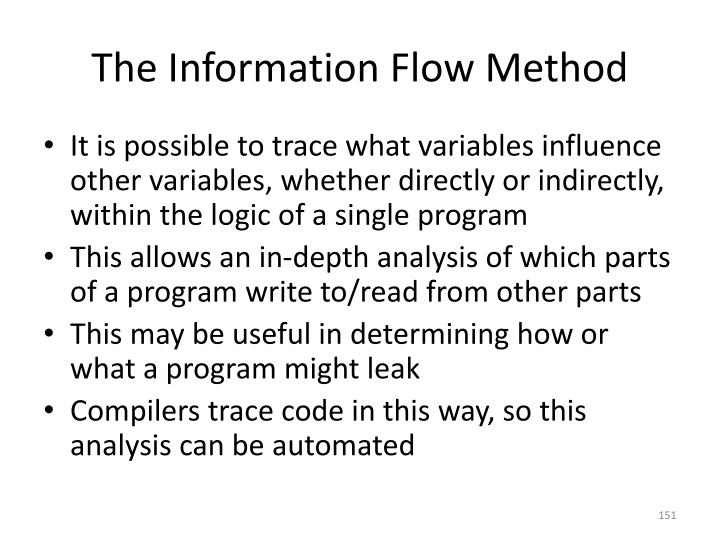 The Information Flow Method