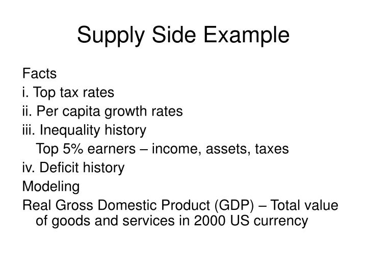 Supply Side Example