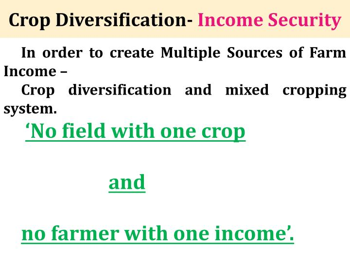 Crop Diversification-