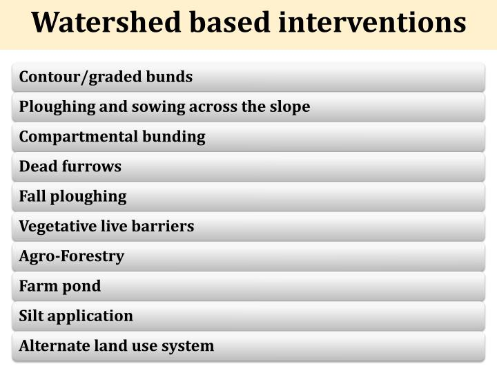 Watershed based interventions