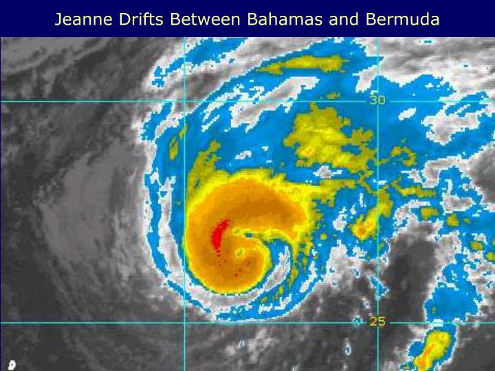 Jeanne Drifts Between Bahamas and Bermuda