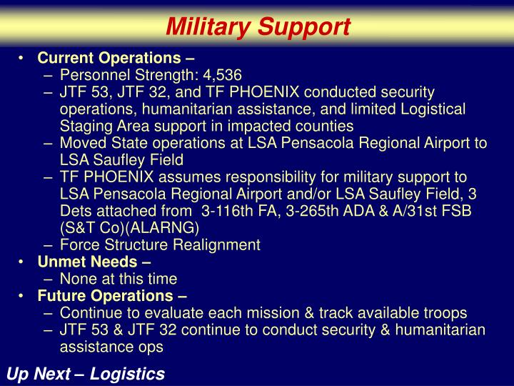 Military Support