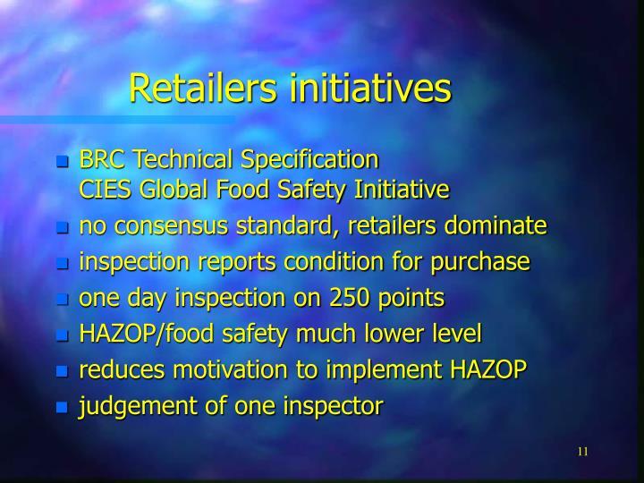 Retailers initiatives